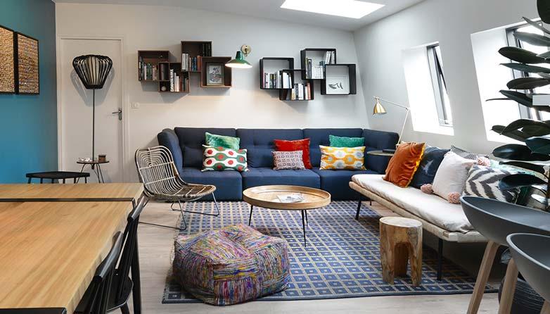 projet de dcoration dintrieur dun salon design et contemporain ralis nmes