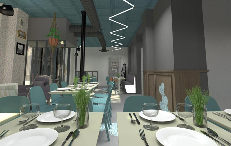 architecture commerciale n mes am nagement boutique bureau restaurant. Black Bedroom Furniture Sets. Home Design Ideas
