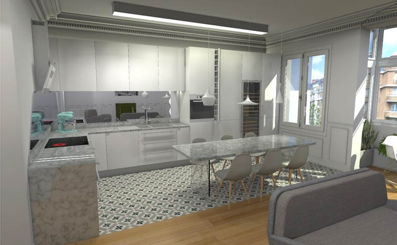 Architecte d int rieur n mes travaux de r novation et am nagement int rieur - Cuisine architecte d interieur ...