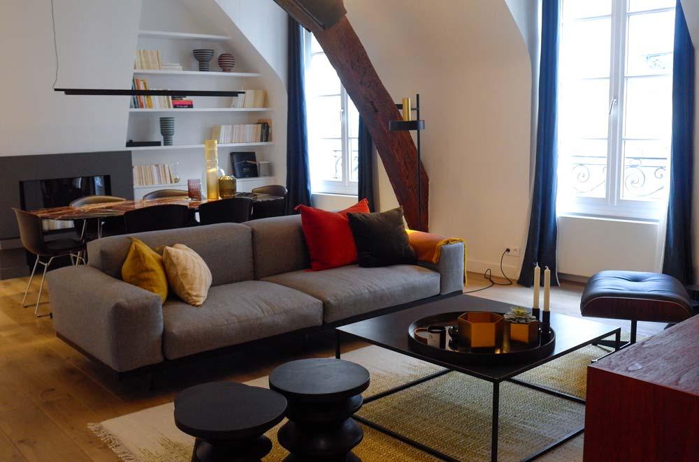 Réunir 3 studios en créer un appartement unique pour une famille vivant à Paris