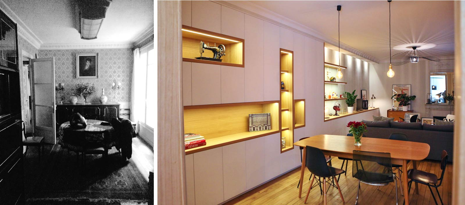 Relooking Appartement Avant Après avant-après : rénovation d'un appartement sombre en logement