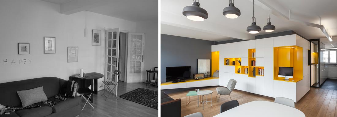 R novation d 39 une appartement 3 pi ces par un architecte d for Interieur maison d architecte