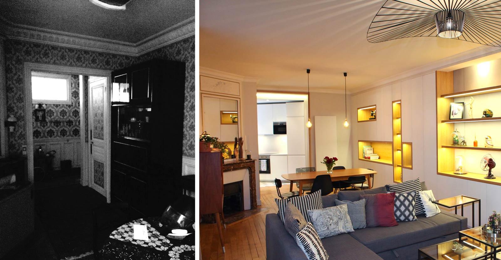 Relooking Maison Avant Apres avant-après : rénovation d'un appartement sombre en logement