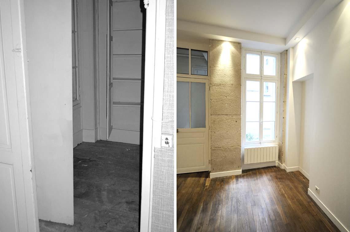 avant - après : architecture d'intérieur du cabinet d'un diététicien
