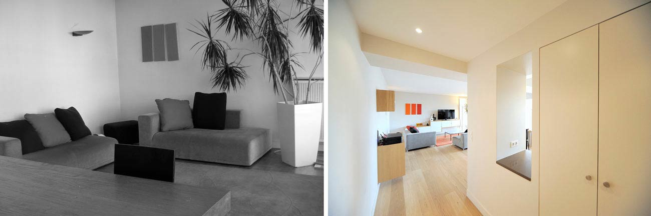 Avant apr s r novation appartement dans une tour des for Architecte interieur nimes