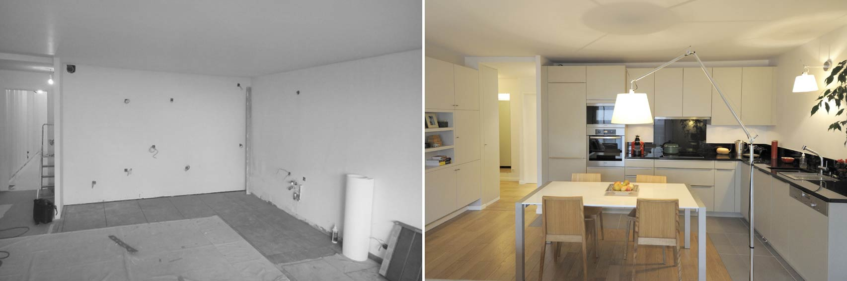 Avant apr s am nagement appartement 4 pi ces 90m2 for Architecte interieur nimes