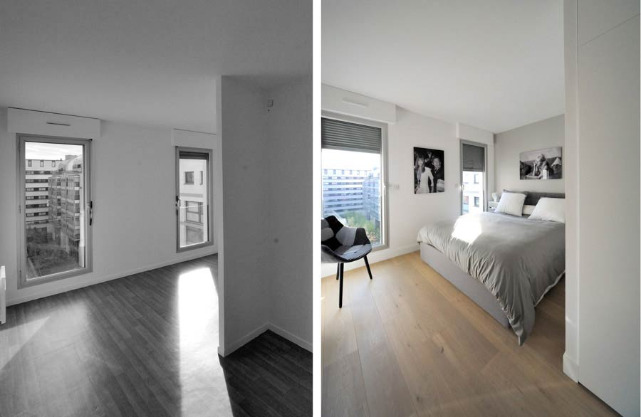 Am nagement d 39 un appartement contemporain 4 pi ces 85m2 for Architecte interieur nimes