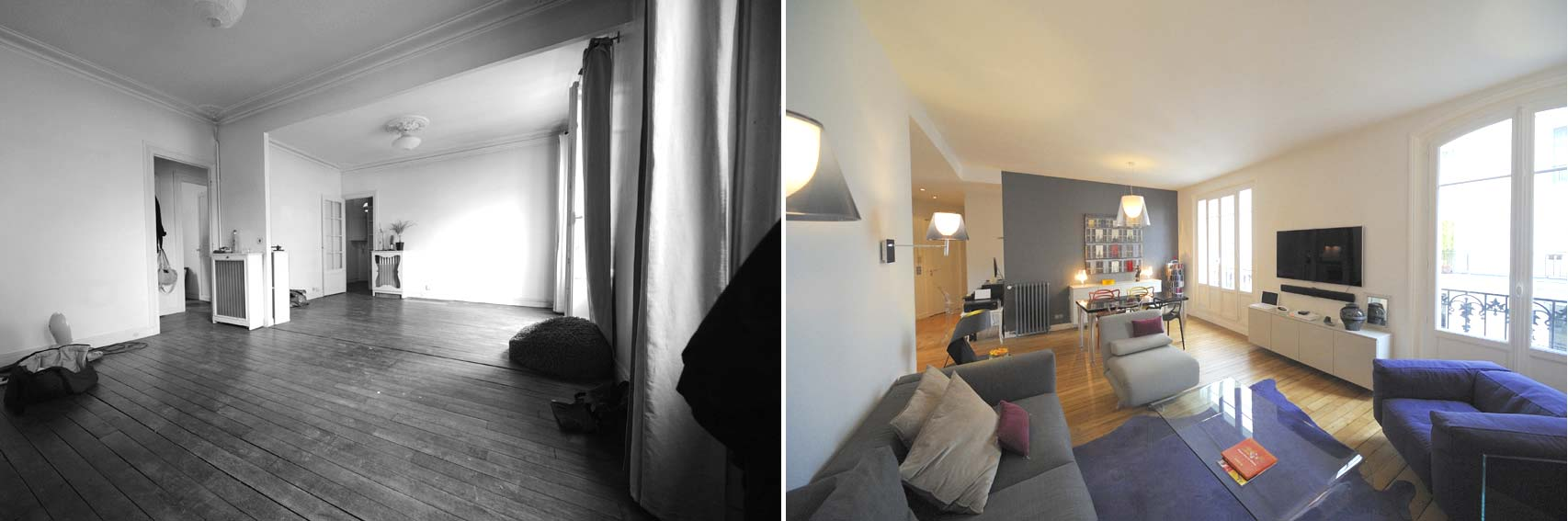 Avant apr s transformation d 39 un appartement de 65m2 du for Architecte interieur nimes
