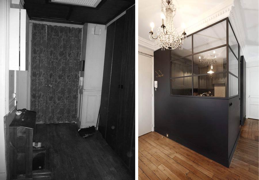 R novation d 39 un appartement 4 pi ces 90m2 de style - Relooking appartement avant apres ...