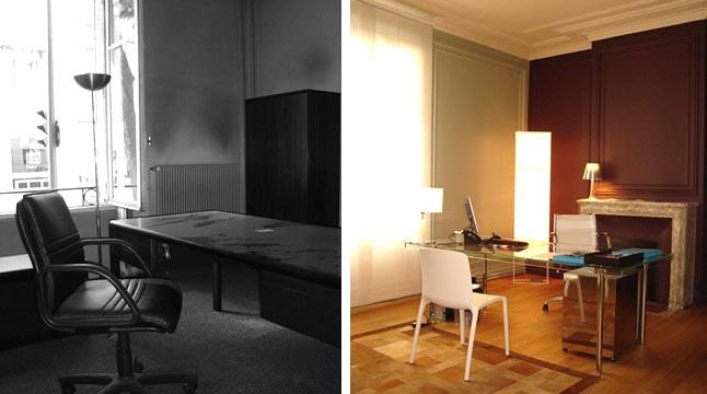 En haut Avant - Aprés : Aménagement de bureaux de 200 m2 &XY_33